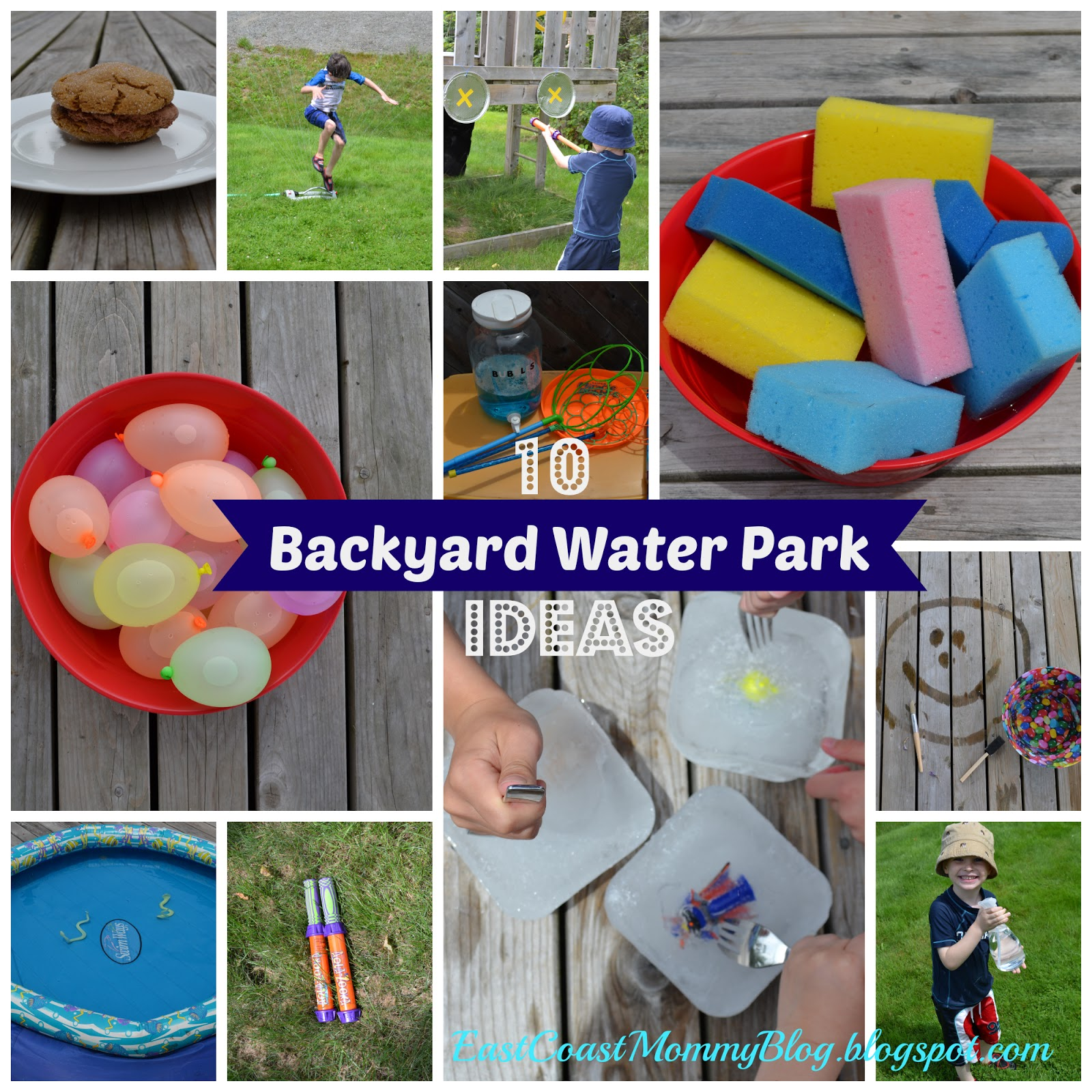 east coast mommy 10 easy diy backyard water park ideas
