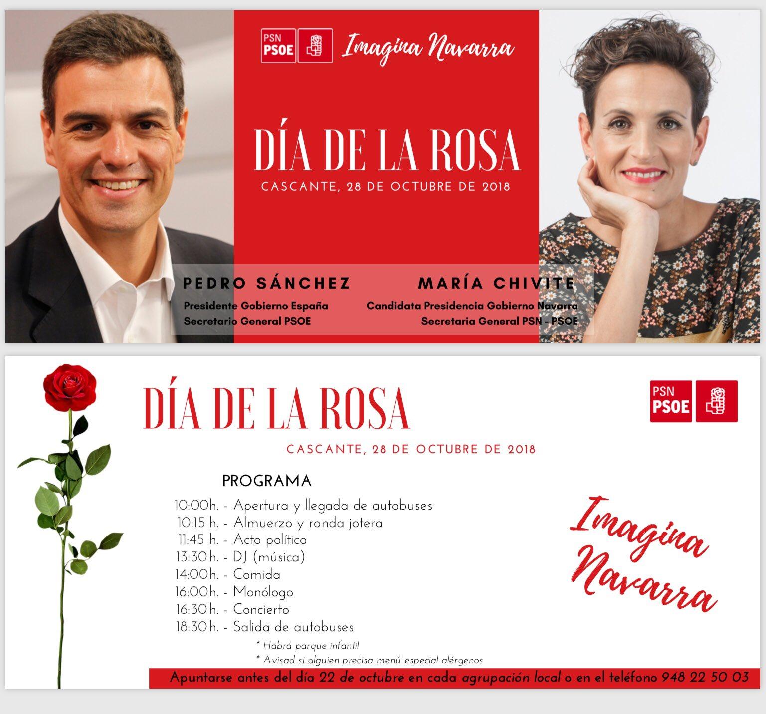 Día de la Rosa PSN-PSOE 2018
