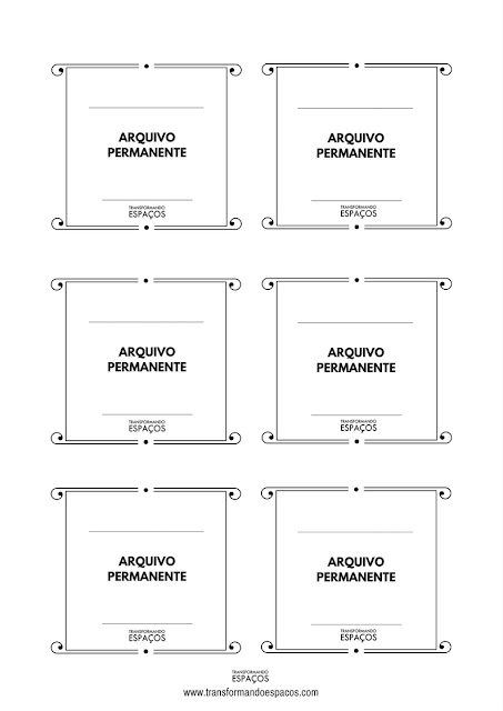 etiquetas arquivos modelo 2