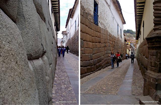 Rua Hatun Rumiyoc e Palácio de Inca Roca, Cusco