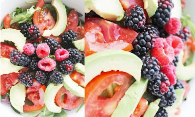 Healthy Berry Avocado Salad Recipe, Health Nutrition, Food Health Nutrition