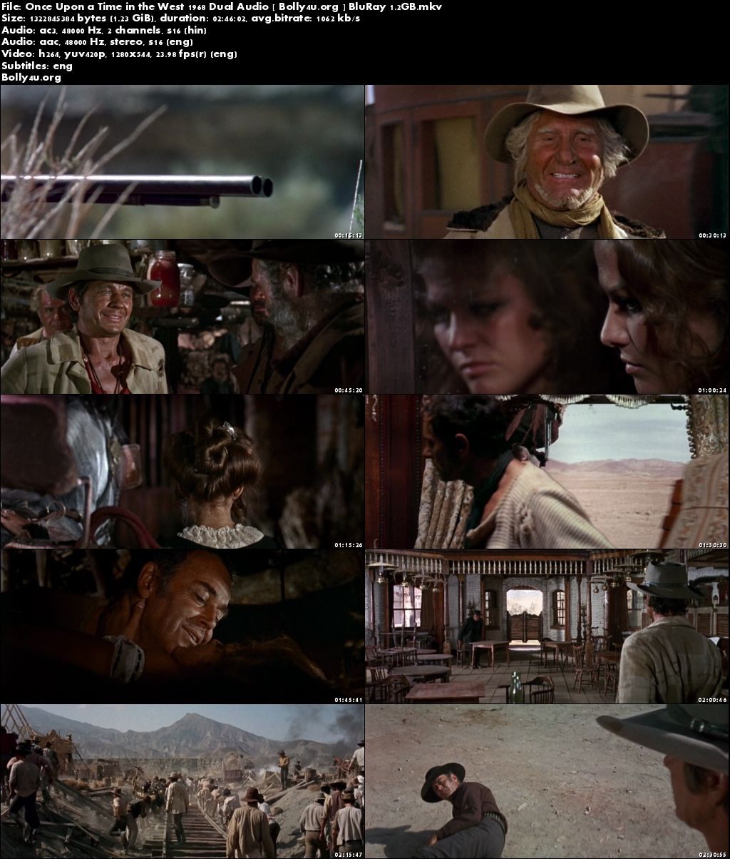 Once Upon a Time in the West 1968 BRRip 500MB Hindi Dual Audio 480p Download