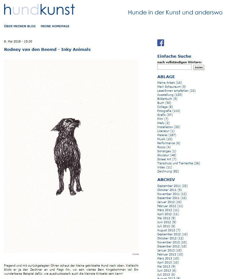 Inky Animals on Hund und Kunst