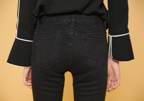 Stitched-Rip Kneese Skinny Jeans