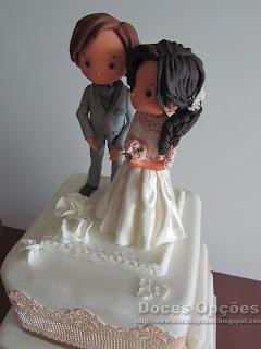 bolo casamento decorado bragança