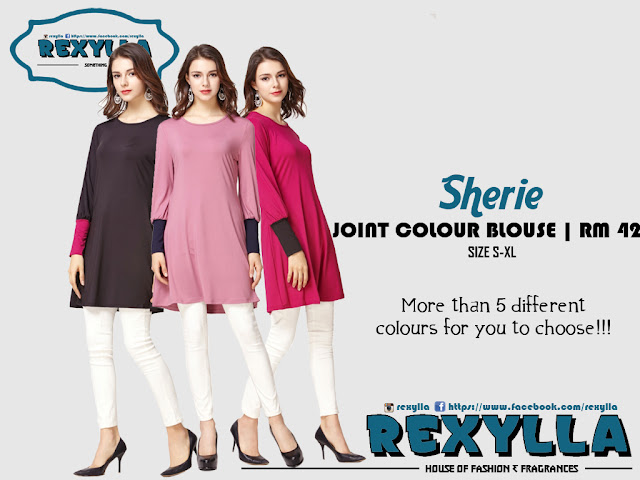 rexylla, joint colour, joint colour blouse, sherie collection