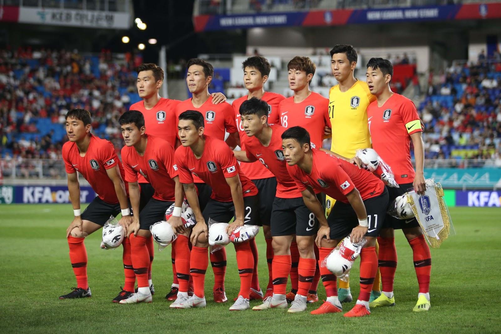 Formación de Corea del Sur ante Chile, amistoso disputado el 11 de septiembre de 2018