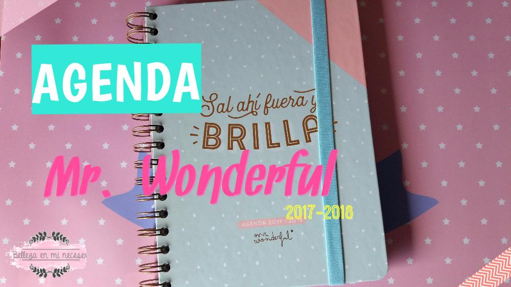 Belleza en mi neceser agenda mr wonderful 2017 2018 - Agenda mr wonderful 2018 ...