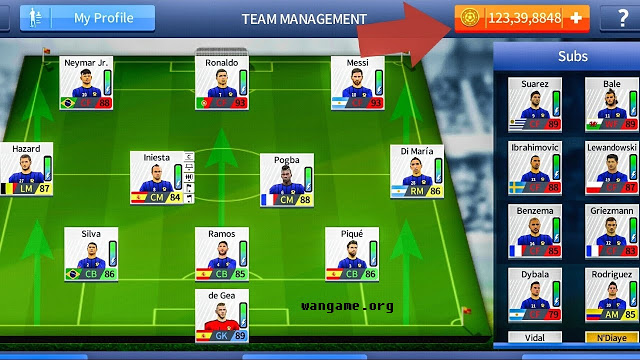 Dream League Soccer 2019 Mod Tiền - WanGame org