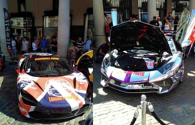 McLaren in den britischen Landesflagge und Lamborghini im Glitzerlook von Team Salamone USA