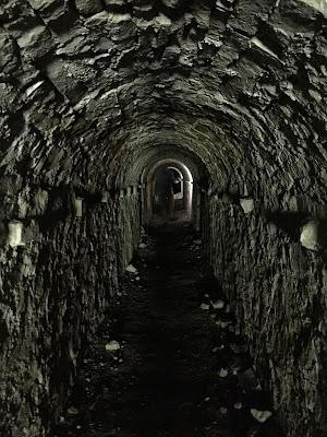 Inside a tunnel in a ravelin.