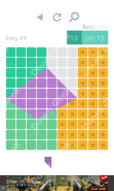 Cheats, Walkthrough for Blocks and Shapes Level 49