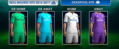 Real Madrid Kits 2016 - 2017 Pes 2013 By Dead