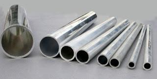 Pipa Aluminium tebal yang sudah diukur