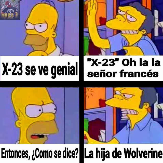 Oh la la señor frances! Es la hija de Wolverine!