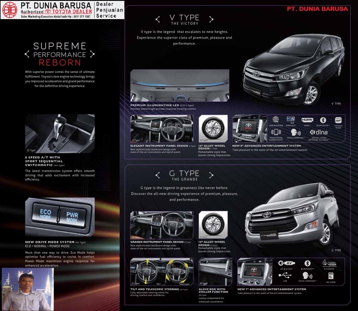 perbedaan all new kijang innova g dan v grand avanza 2016 type  harga mobil toyota aceh