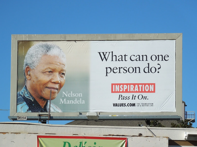 Nelson Mandela Inspiration Values billboard