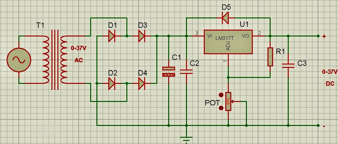 Ariful's Design: DC Variable Power Supplier Circuit Using IC LM317/LM117