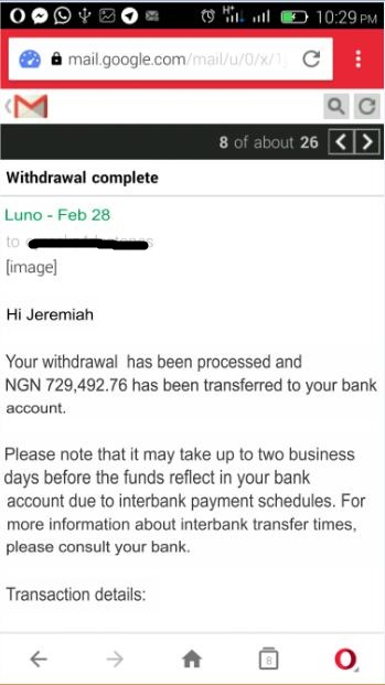 withdraw with luno