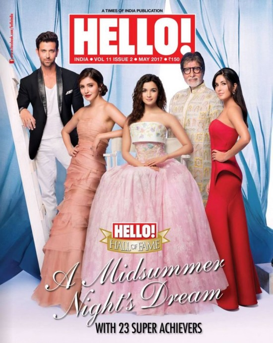 Anushka, Alia and Katrina Kaif Hello! Magazine India May 2017
