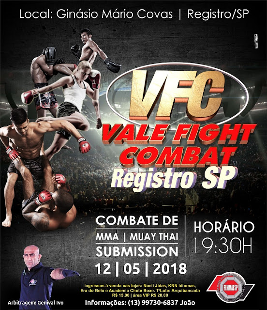 Registro-SP sediará 2º Vale Fight Combat