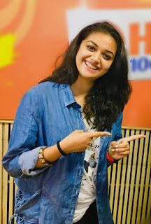 Keerthy Suresh in Blue Dress with Cute and Awesome Chubby Cheeks Smile