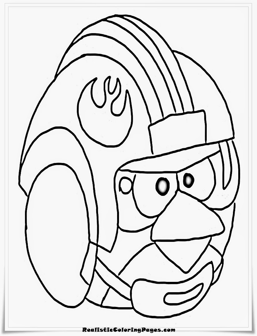 Angry Birds Star Wars Coloring Sheet