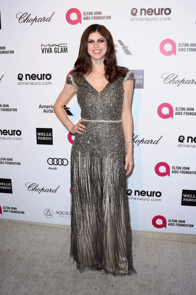 Alexandra Daddario – 2015 Elton John AIDS Foundation's Oscar Viewing Party in Hollywood