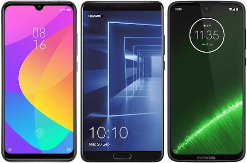 Xiaomi Mi A3 128 GB vs Huawei Mate 10 vs Motorola Moto G7 Plus