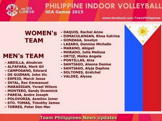 Philippine Women's and Men's Volleyball Team Line-ups for ... - photo#16