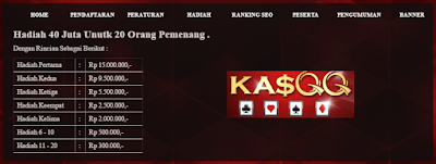 rincian pembagian hadiah bagi pemenang lomba Kasqq