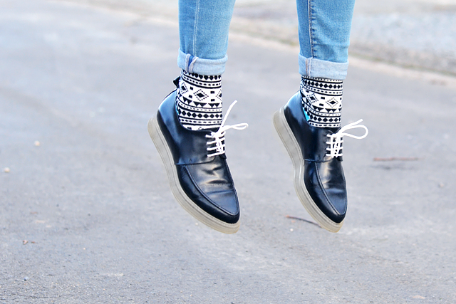 Printed socks, high socks, sammy icon, happy socks, inspiration, how to wear