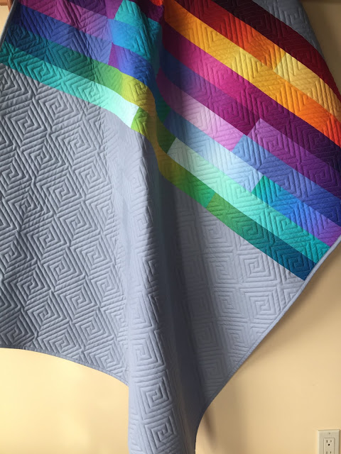 Sunrise Over the Horizon Lap Quilt | Finished or Not Friday Linky Party!