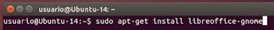 sudo apt-get install libreoffice-gnome