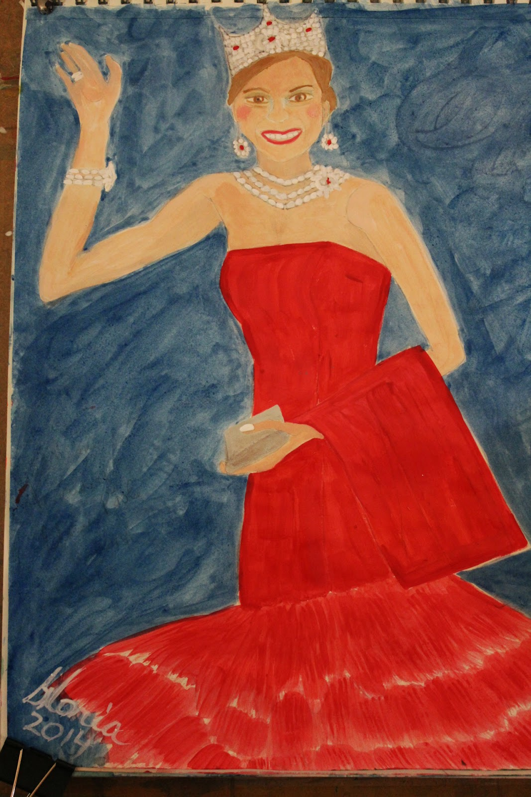 Queen-Maxima- sketch-repainted-by-gloriapoole-of-Missouri-25-May-2014