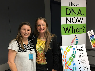Diahan Southard and Dana Leeds at Houston Genealogical Forum November 2016