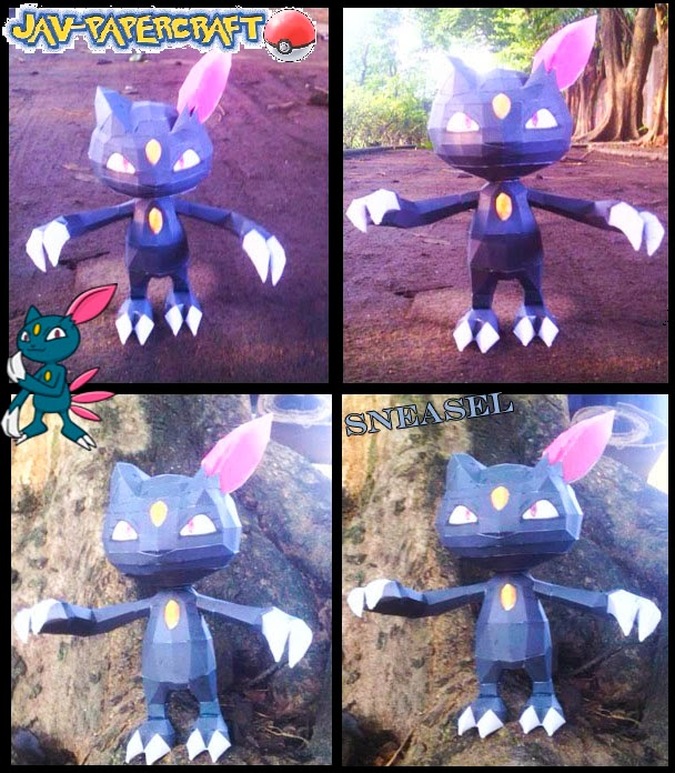Pokemon Sneasel Paper Model