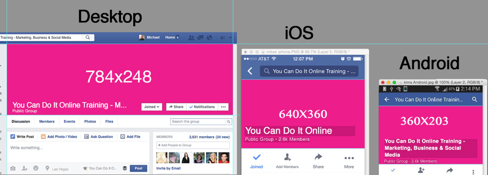 mobile facebook page how to change cover photo