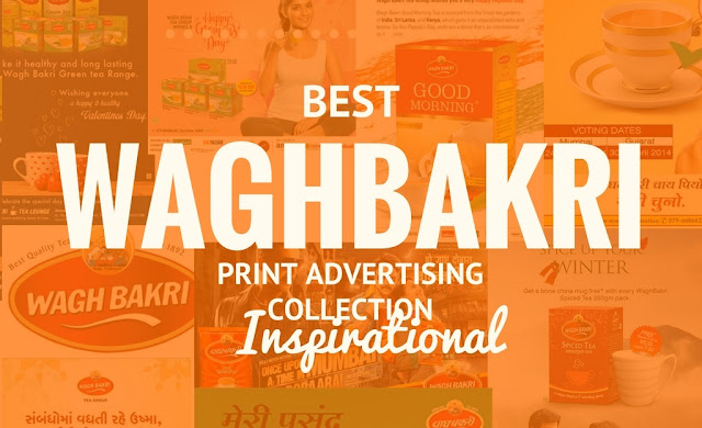 waghbakri tea print advertisement collection