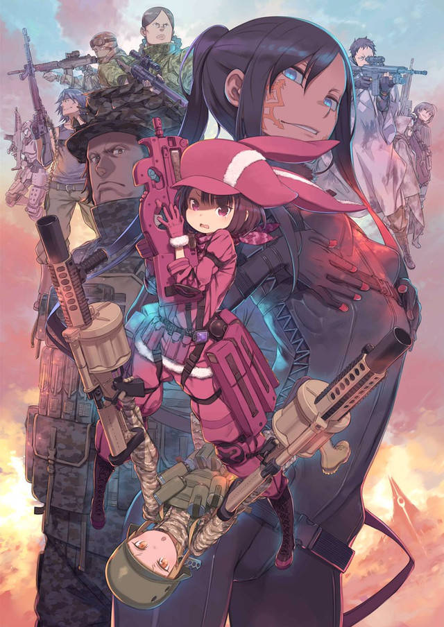 Plakat anime Sword Art Online: Alternative Gun Gale Online