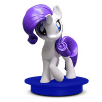 MLP Consessions Drink Toppers Rarity Figure by Cinema Scene