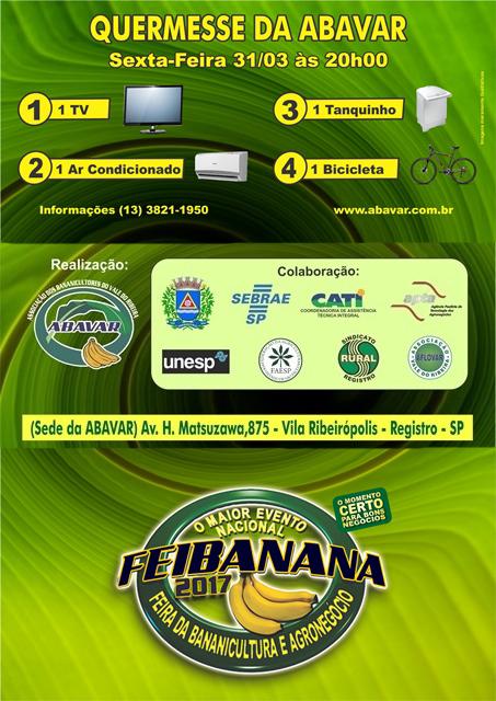 Dentro do Calendário Estadual, Feibanana 2017 se torna o maior Evento Nacional em Bananicultura
