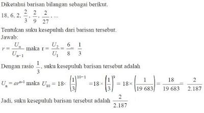 Contoh Soal Barisan Geometri - berbagaireviews.com