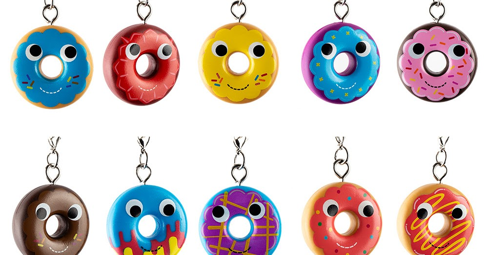 Kidrobot YUMMY WORLD ATTACK OF THE DONUTS Keychain Series LIGHTNING BOLT RED