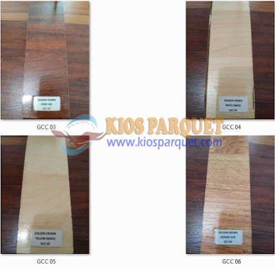 harga lantai kayu vinyl dan Laminated Golden Crown