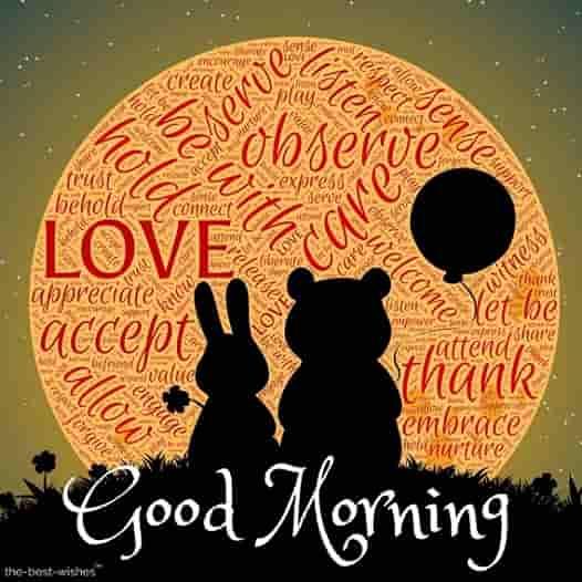good morning dear friends with teddy love