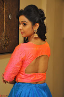 Nithya Shetty in Orange Choli at Kalamandir Foundation 7th anniversary Celebrations ~  Actress Galleries 070.JPG