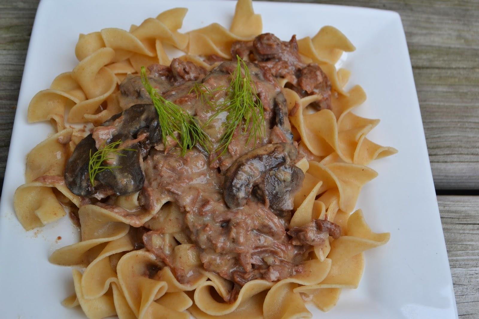 TIP GARDEN: Crock Pot Real Beef Stroganoff (with NO cream soup!)