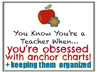 photo of: You know you're a teacher: when you're obsessed with anchor charts! Anchor Chart RoundUP at RainbowsWithinReach