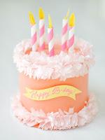 torta di compleanno fai da te in carta crespa